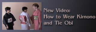 New Video: How to Wear Kimono and Tie Obi